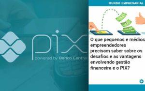 O Que Pequenos E Médios Empreendedores Precisam Saber Sobre Os Desafios E As Vantagens Envolvendo Gestão Financeira E O Pix  - Tononi Contabilidade | Contabilidade no Espírito Santo
