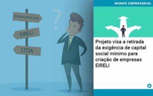Projeto Visa A Retirada Da Exigência De Capital Social Mínimo Para Criação De Empresas Eireli - Tononi Contabilidade | Contabilidade no Espírito Santo
