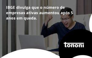 Ibge Divulga Que Numero De Empresa Ativas Aumentou Tononi - Tononi Contabilidade | Contabilidade no Espírito Santo